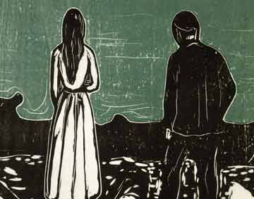 detail of a print by Munch