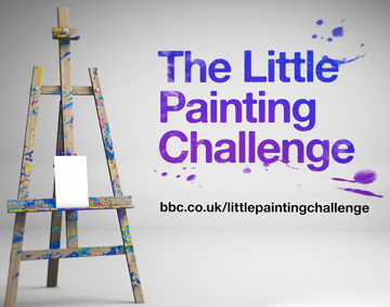 an easel on a white background and text reading BBC Little Picture Challenge